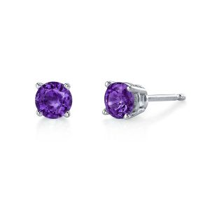 Amethyst 4mm Stud Earrings